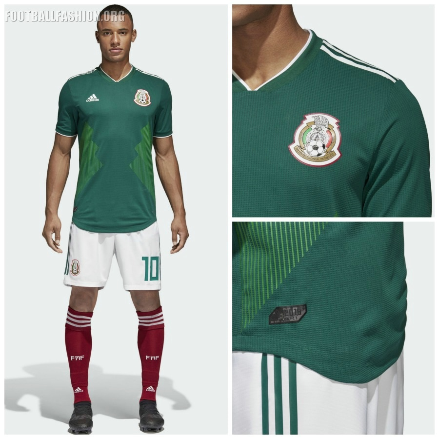 Mexico 2018 world cup adidas home jersey football for Kit homes new mexico