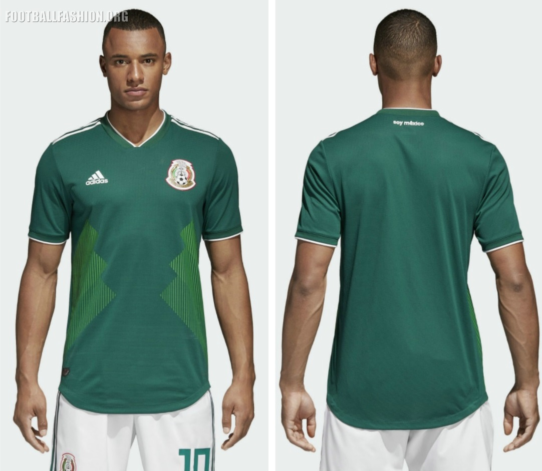 be1a0bd8f1641 Mexico 2018 World Cup adidas Home Jersey - FOOTBALL FASHION.ORG