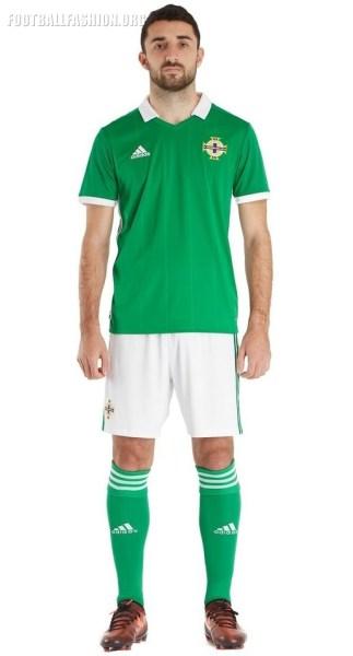 Northern Ireland 2018 adidas Home Football Kit, Soccer Jersey, Shirt
