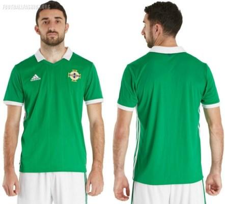Northern Ireland 2018 2019 adidas Home Football Kit, Soccer Jersey, Shirt