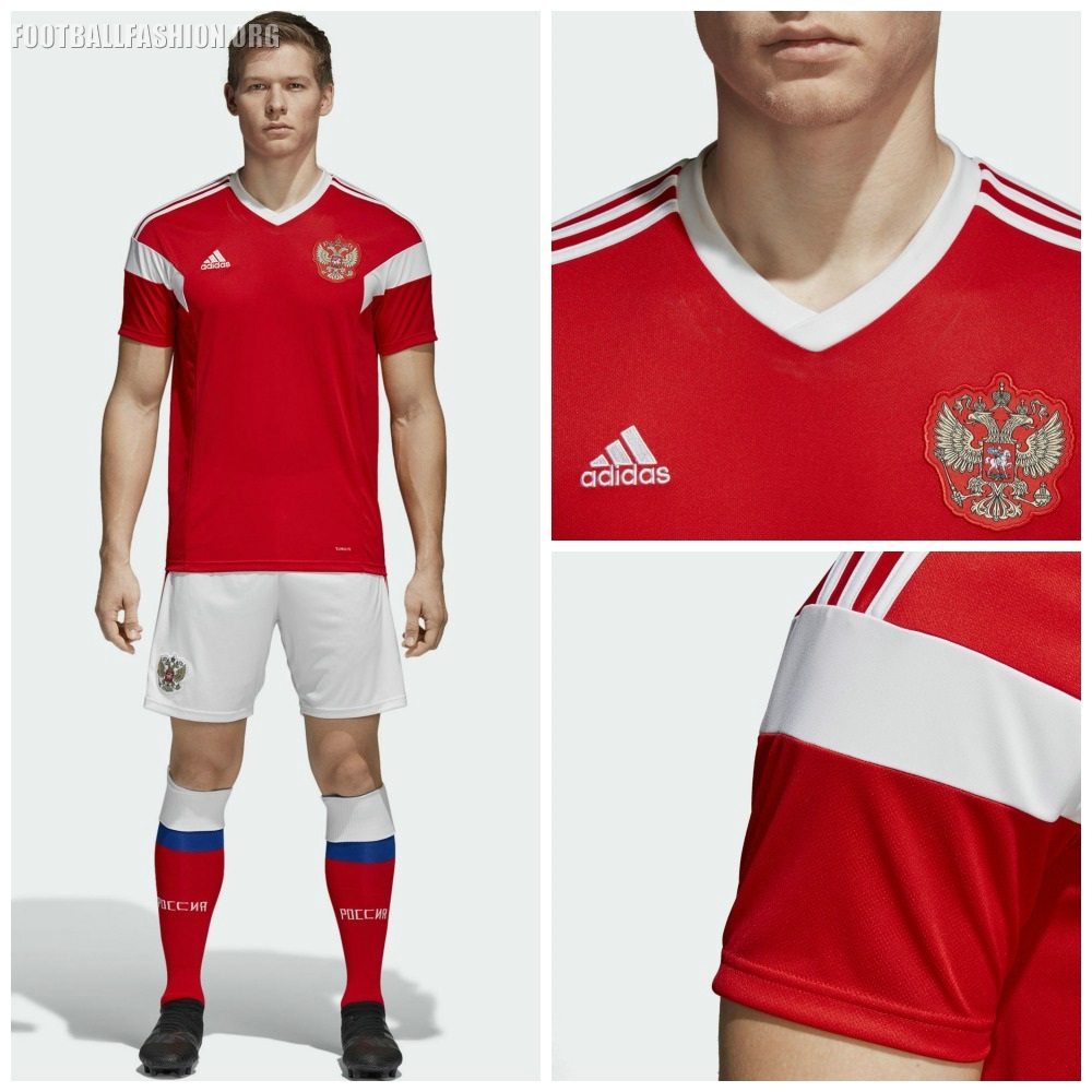 huge selection of 7446d e2564 Russia 2018 World Cup adidas Home Kit - FOOTBALL FASHION.ORG