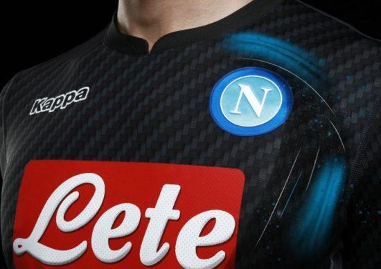 SSC Napoli 2017 2018 Kappa Kombat Karbon Fourth Football Kit, Shirt, Soccer Jersey, Gara, Maglia, Camiseta, Camisa, Maillot, Trikot, Tenue