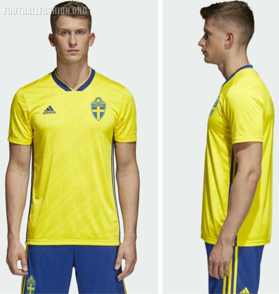 2d480da8405 Sweden 2018 2019 World Cup adidas Home Football Kit, Soccer Jersey, Shirt,  Sverige
