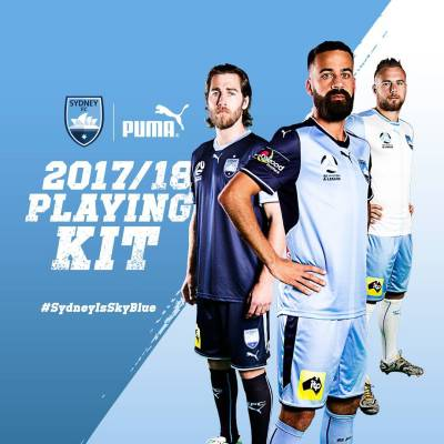 Sydney FC 2017 2018 PUMA Home, Away and Third Soccer Jersey, Football Kit, Shirt