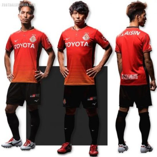 Nagoya Grampus 2018 Mizuno Home Football Kit, Soccer Jersey, Shirt