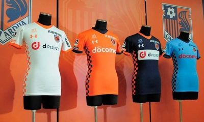 Omiya Ardija 2018 Under Armour Home, Away and Third Football Kit, Soccer Jersey, Shirt