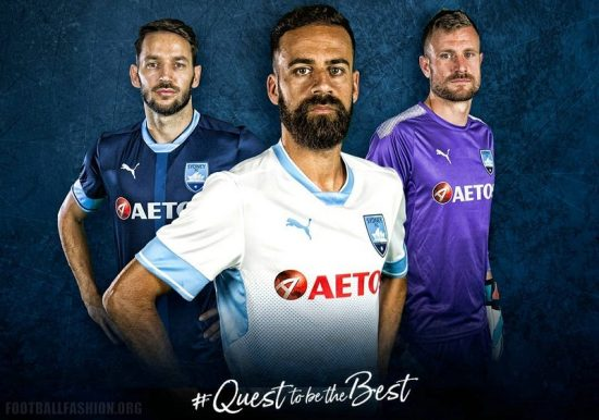Sydney FC 2018 PUMA AFC Champions League Football Kit, Soccer Jersey, Shirt