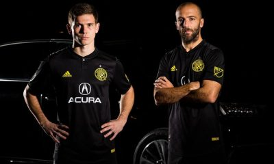 Columbus Crew 2018 adidas Black Away Soccer Jersey, Shirt, Football Kit, Camiseta de Futbol