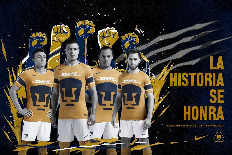d94b203c32e Pumas de la UNAM 2018 Nike Third Soccer Jersey, Shirt, Football Kit,  Camiseta