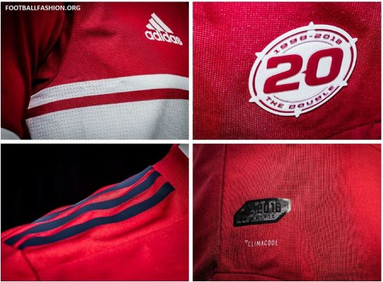 Chicago Fire 2018 2019 adidas Home Soccer Jersey, Shirt, Football Kit, Camiseta de Futbol
