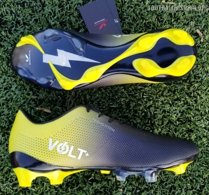 Up-Close Concave Volt + TechStitch Soccer Boot