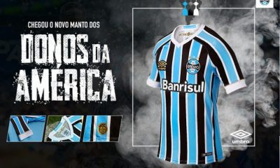 Grêmio 2018 Umbro Home Football Kit, Soccer Jersey, Shirt, Camisa do Futebol