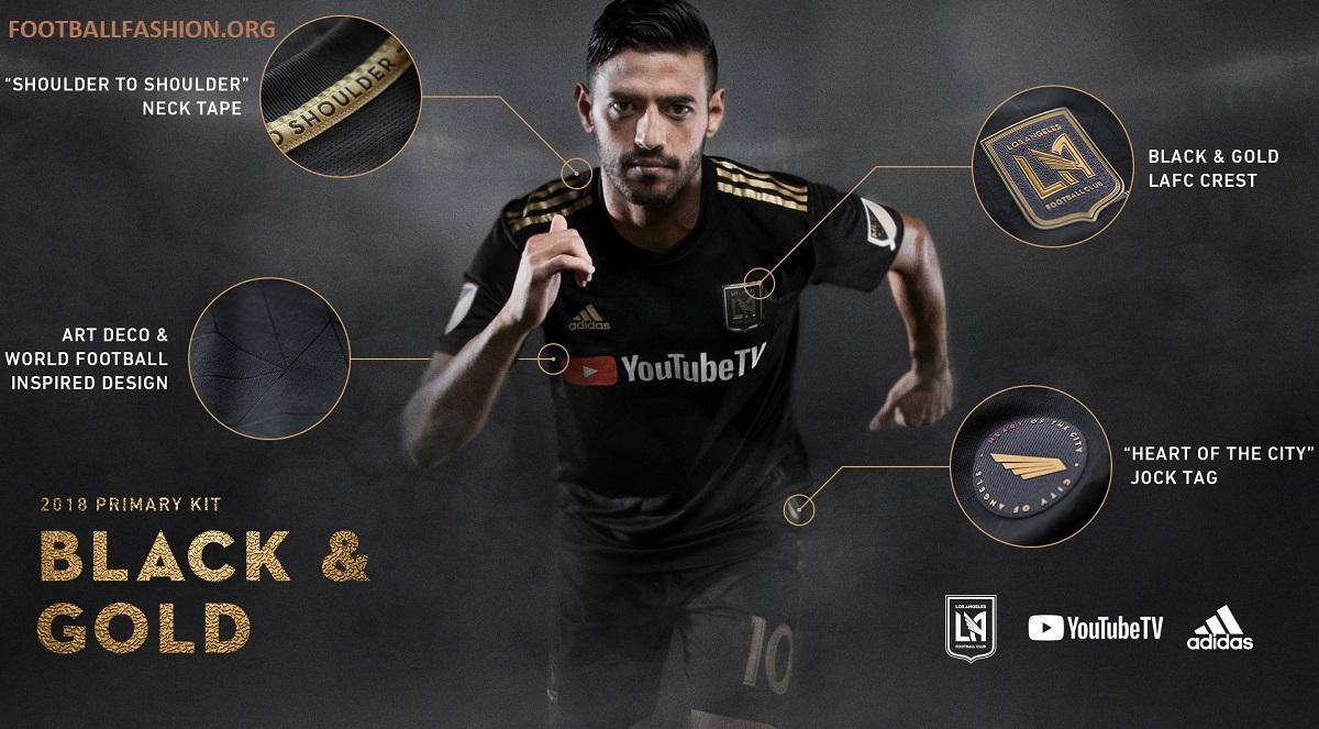 classic fit 2d783 ed954 LAFC Unveils 2018 Inaugural Season Kits - FOOTBALL FASHION.ORG