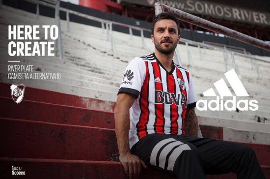 River Plate 2018 adidas Away Football Kit, Soccer Jersey, Shirt, Camiseta, Equipacion, Playera Tercera