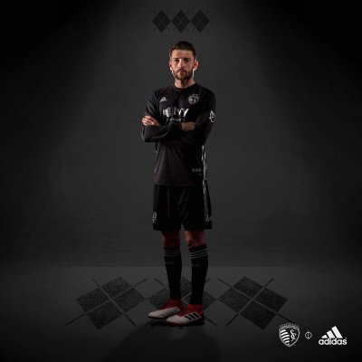 Sporting Kansas City 2018 adidas Away Soccer Jersey, Football Kit, Shirt, Camiseta de Futbol