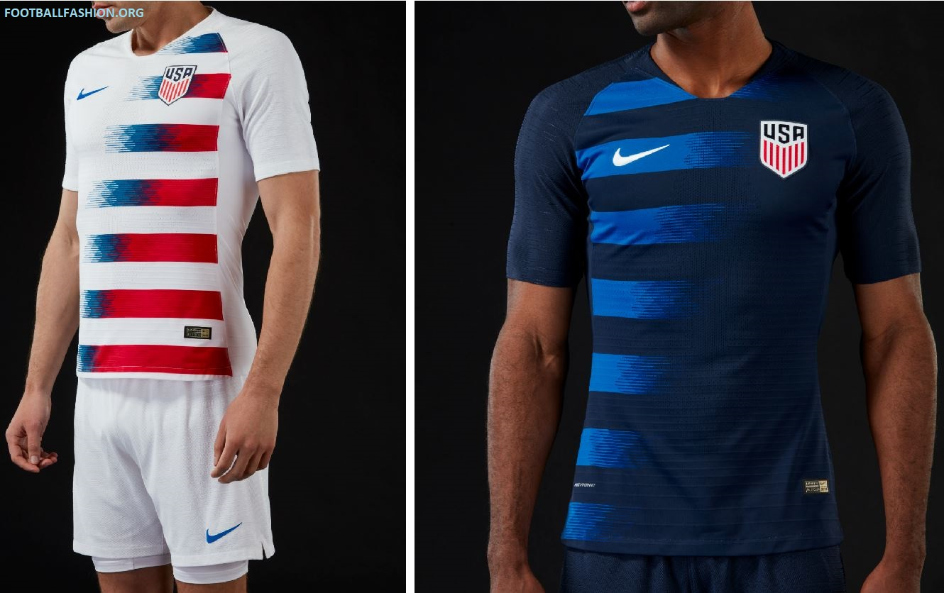reputable site ee63a 1c609 USA 2018/19 Nike Home and Away Jerseys - FOOTBALL FASHION.ORG
