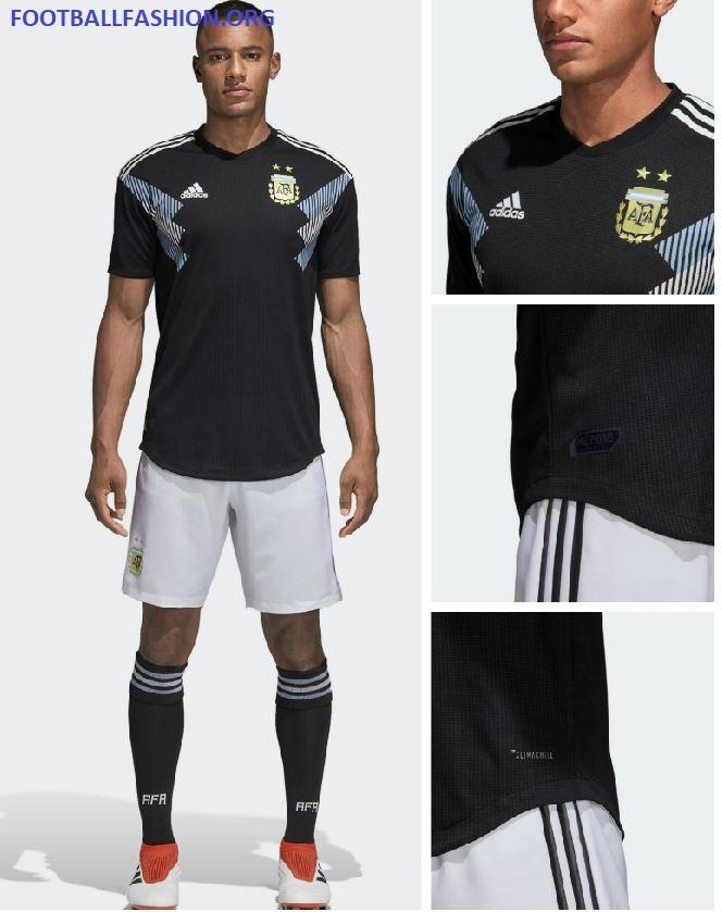 argentina 2018 world cup away kit football fashion org