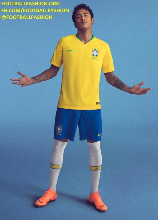 b8d42be4367 Brazil 2018 World Cup Nike Home and Away Kits - FOOTBALL FASHION.ORG