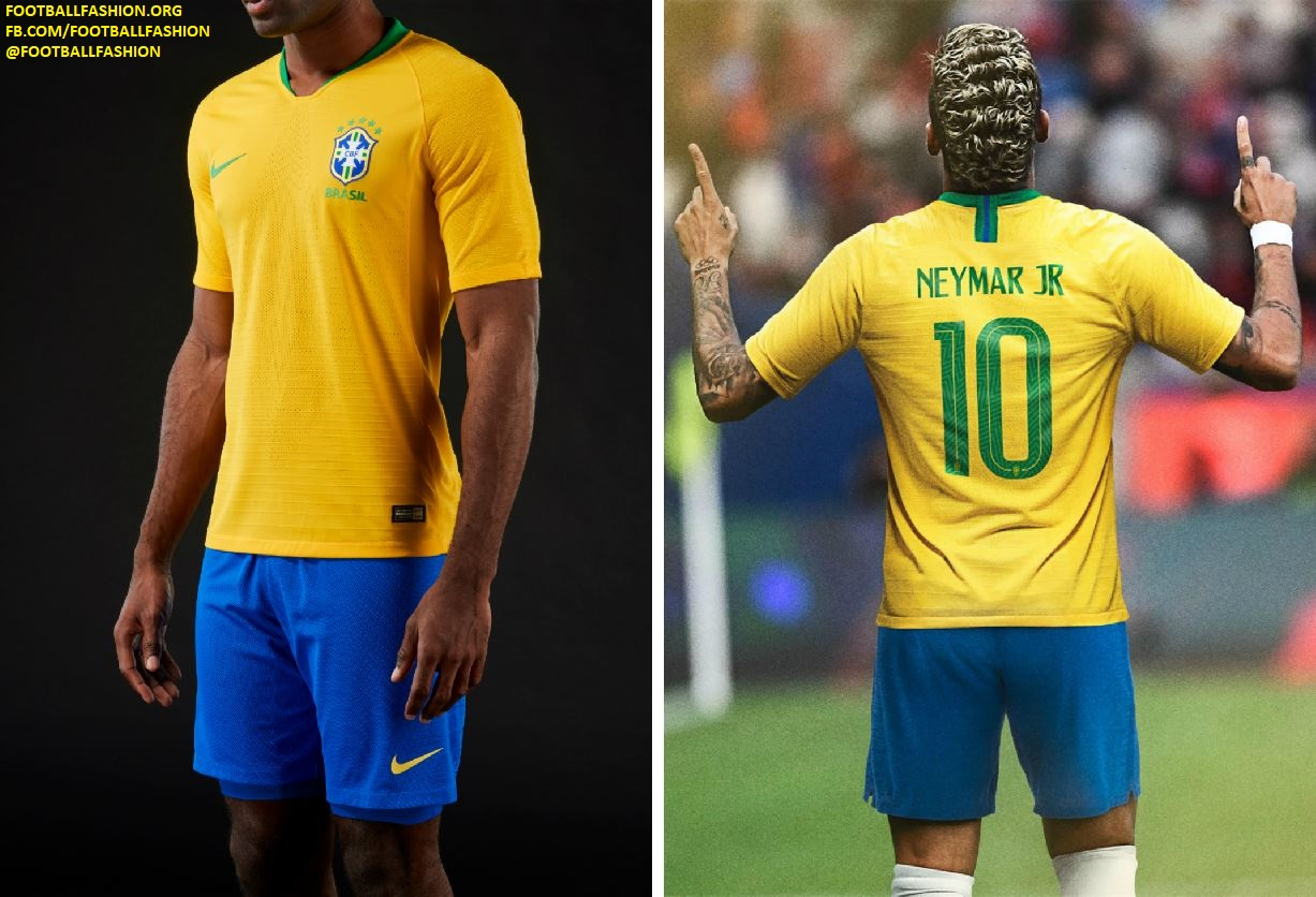 7db9ec33d Brazil 2018 World Cup Nike Home and Away Kits - FOOTBALL FASHION.ORG