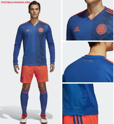 Colombia 2018 World Cup adidas Away Football Kit, Soccer Jersey, Shirt, Camiseta de Futbol Copa Mundial, Equipacion, Playera