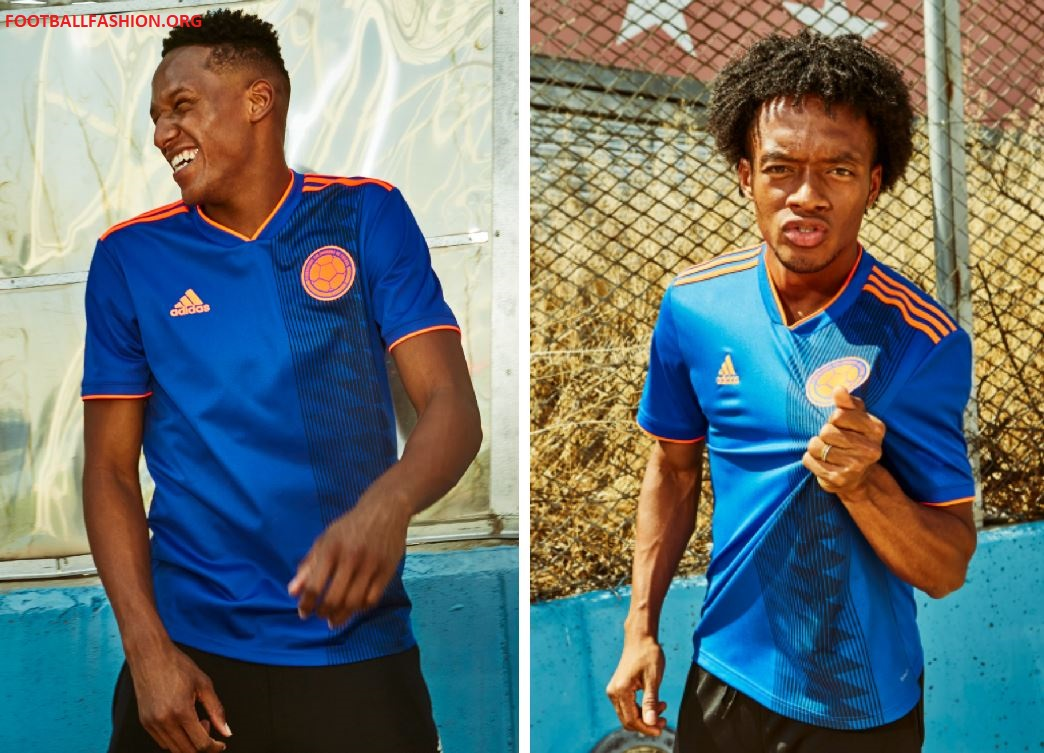 766c15d62dc Colombia 2018 World Cup adidas Away Football Kit, Soccer Jersey, Shirt,  Camiseta de