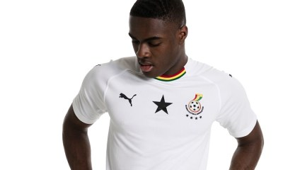 Ghana 2018 2019 PUMA White Away Football Kit, Soccer Jersey, Shirt