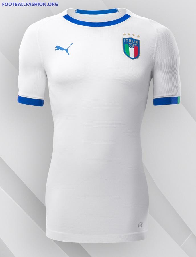 afba299006b Italy 2018 2019 PUMA White Away Football Kit, Shirt, Soccer Jersey, Italia,