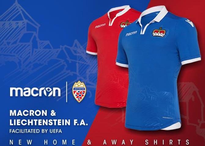 Liechtenstein 2018 2019 Macron Home and Away Football Kit, Soccer Jersey, Shirt, Trikot