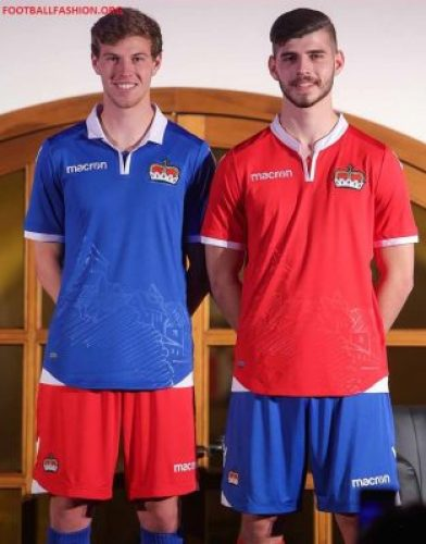 Liechtenstein 2018 2019 Macron Home and Away Football Kit, Soccer Jersey, Shirt, Trikot