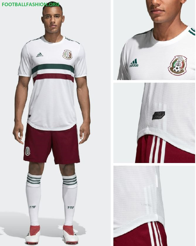 38f79401f Mexico 2018 World Cup adidas Away Jersey - FOOTBALL FASHION.ORG