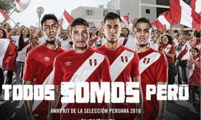 Peru 2018 FIFA World Cup Umbro Away Soccer Jersey, Football Shirt, Shirt, Camiseta de Futbol Copa Mundial Rusia, Equipacion