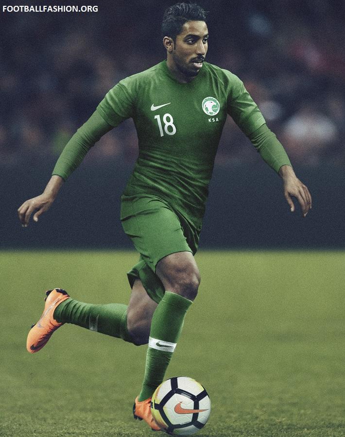 online store fe9fd 94395 Saudi Arabia 2018/19 Nike Home and Away Kits - FOOTBALL ...