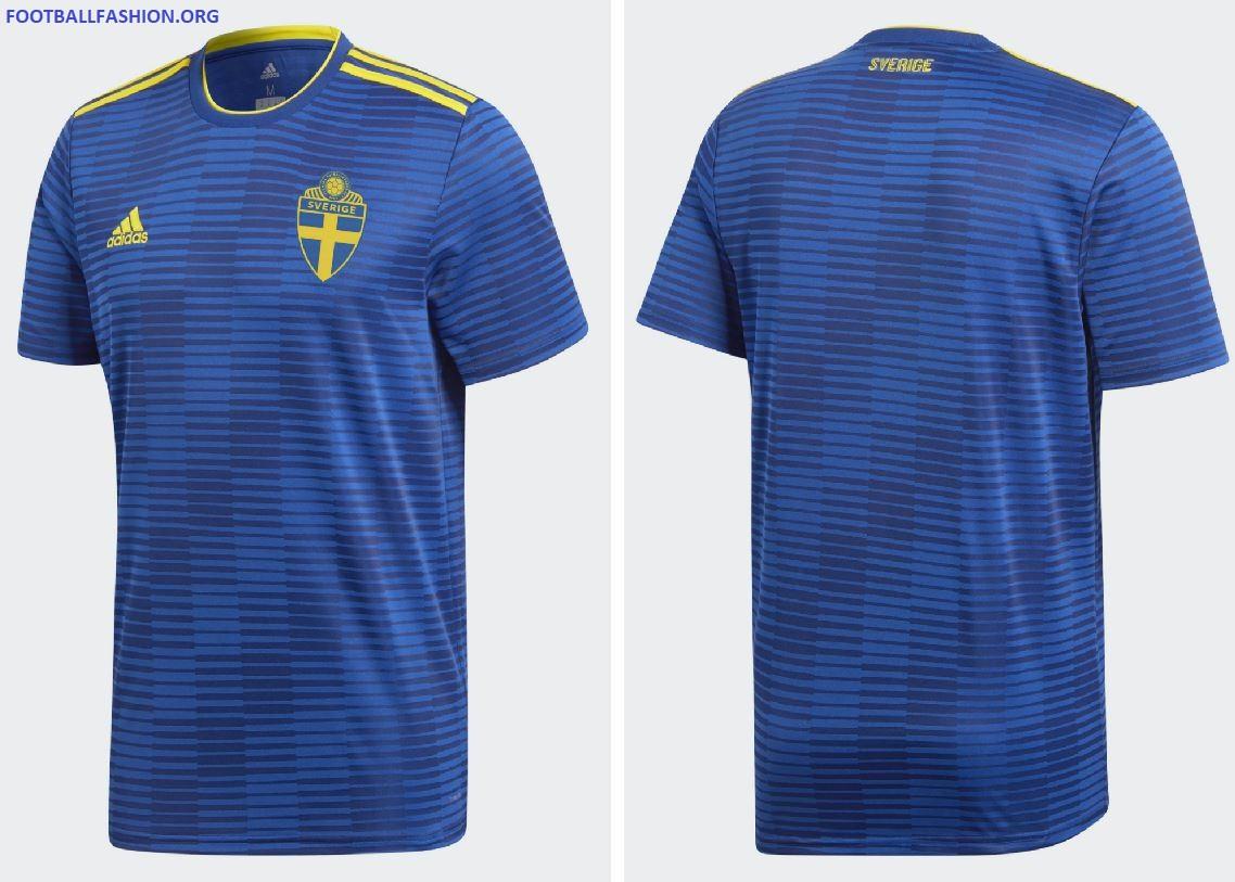 cfdbf43f467 Sweden 2018 World Cup 2019 Blue adidas Away Football Kit, Soccer Jersey,  Shirt,