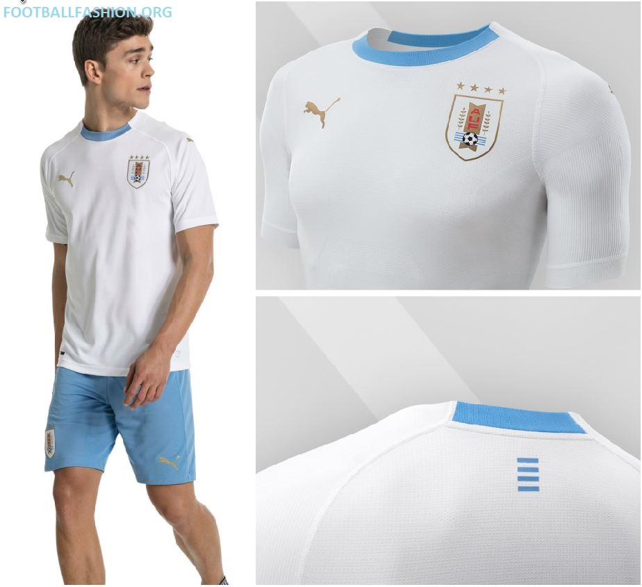 5d3fddde2 Uruguay 2018 World Cup PUMA Away Kit - FOOTBALL FASHION.ORG