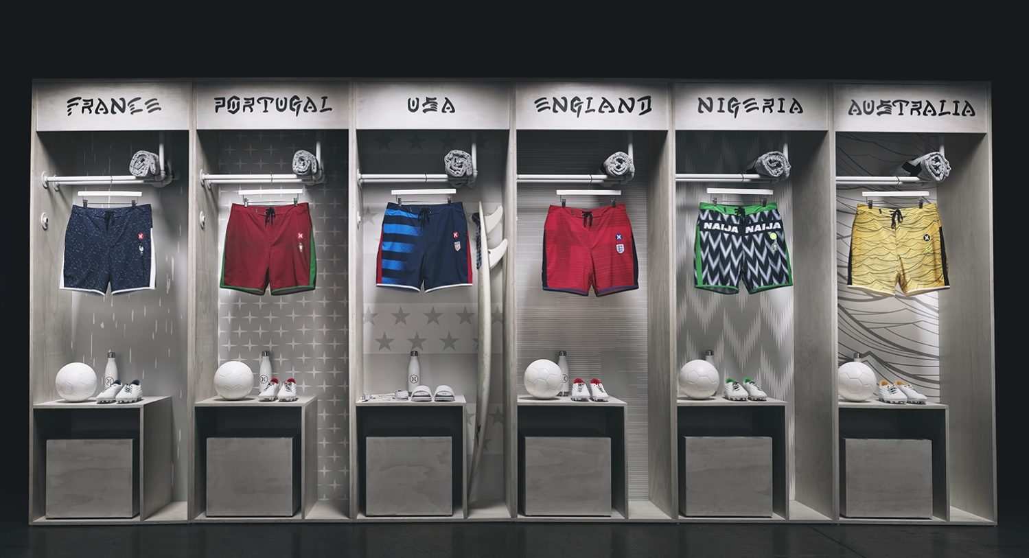 Hurley Unveils 2018 World Cup National Team Board Shorts – FOOTBALL ... 182d55a86f1