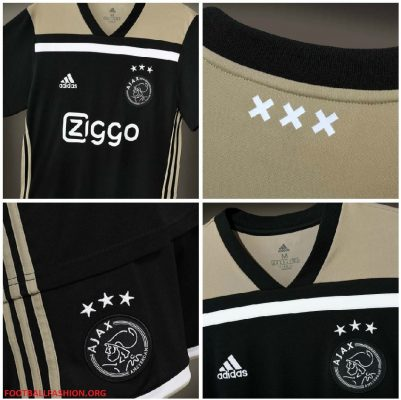 AFC Ajax Amsterdam 2018 2019 adidas Away Football Kit, Soccer Jersey, Shirt, Uitshirt, Uittenue