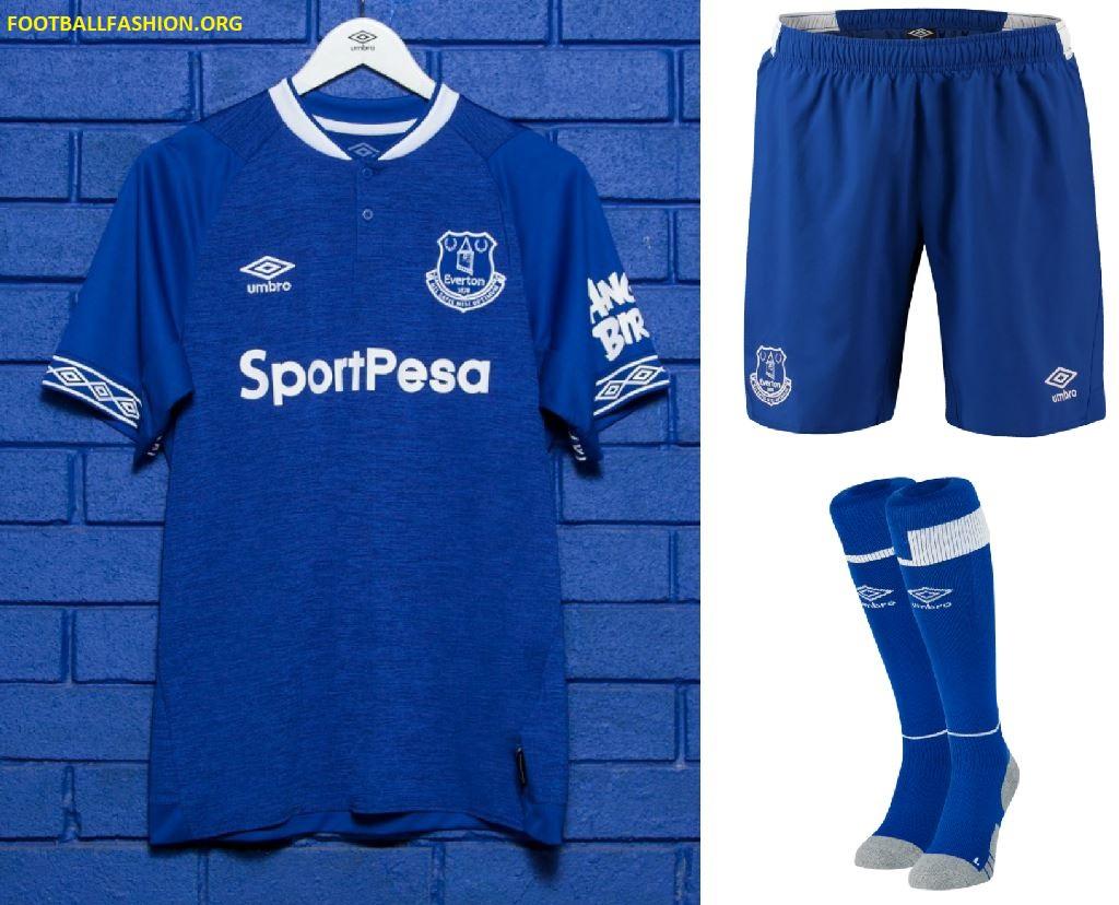 watch b6b10 08064 Everton FC 2018/19 Umbro Home Kit - FOOTBALL FASHION.ORG