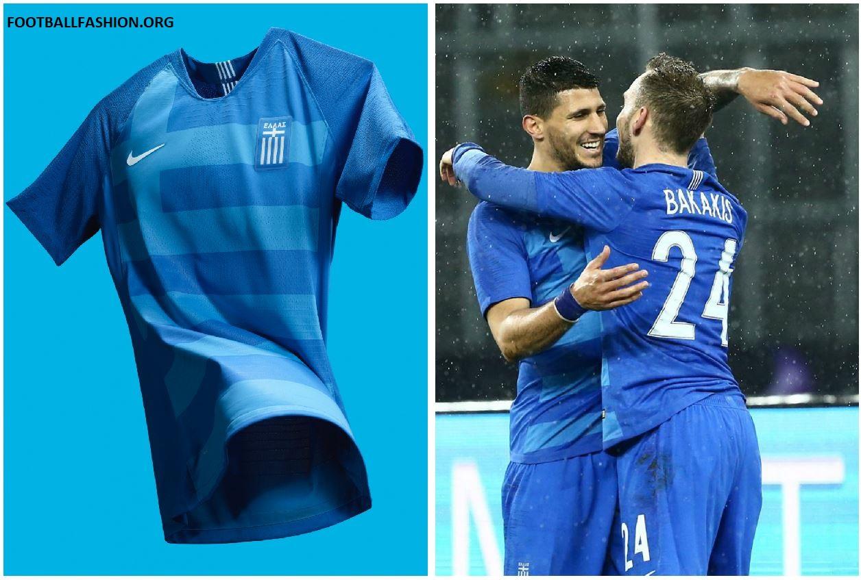 5a6db7fb2 Greece 2018 19 Nike Home and Away Kits - FOOTBALL FASHION.ORG