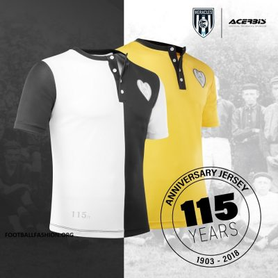Heracles Almelo 115th Anniversary Acerbis Home Football Kit, Shirt, Soccer Jersey, Tenue