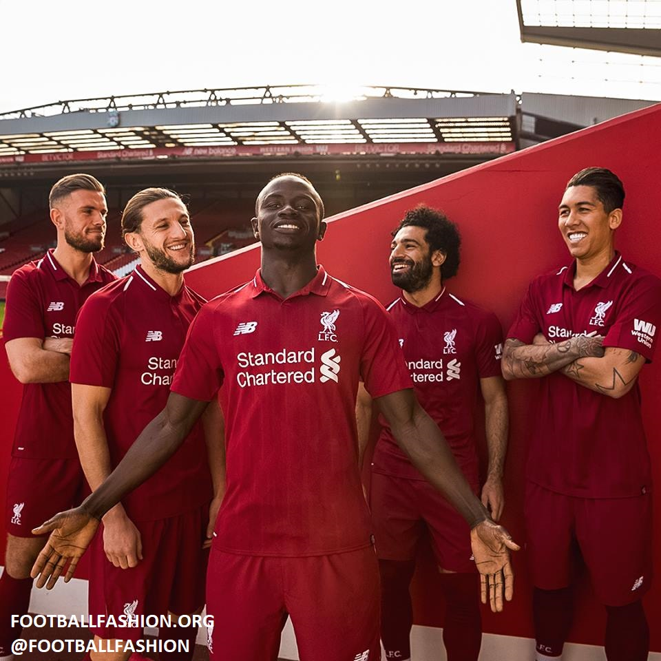 7e2de651b Liverpool FC 2018 19 New Balance Home Kit - FOOTBALL FASHION.ORG