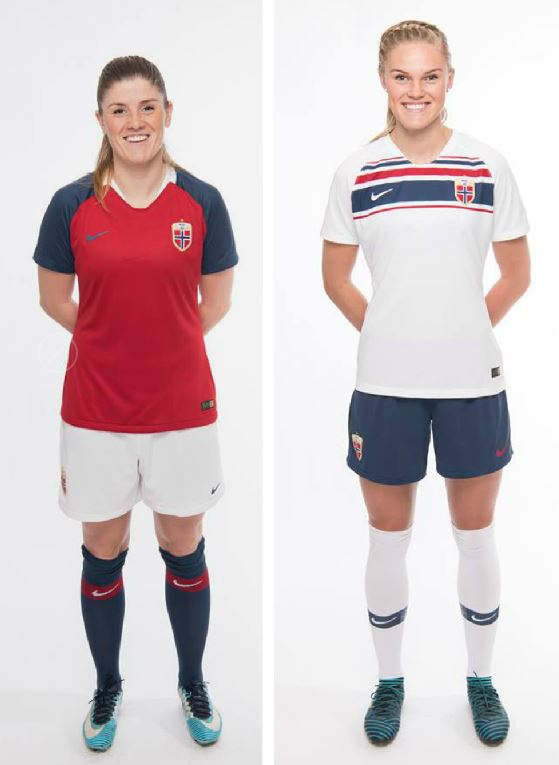 the best attitude 38b62 85f16 Norway 2018/19 Nike Home and Away Kits - FOOTBALL FASHION.ORG