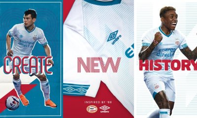 PSV Eindhoven 2018 2019 Umbro Away Football Kit, Soccer Jersey, Shirt, Uitshirt, Tenue