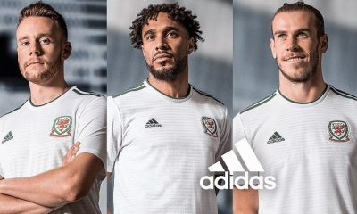 Wales 2018 2019 White adidas Away Football Kit, Soccer Jersey, Shirt