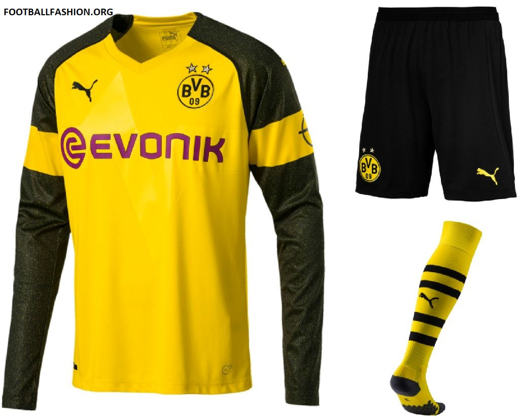 Borussia Dortmund 2018 19 Puma Home Kit Football Fashion