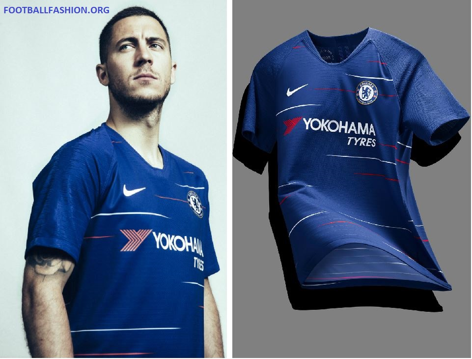 Chelsea FC 2018 19 Nike Home Kit – FOOTBALL FASHION.ORG 0cb955cad