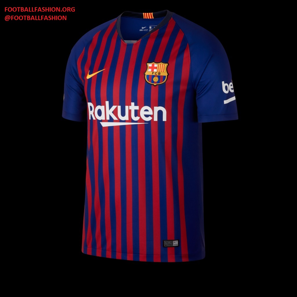 c6086366537 The the 2018/19 Blaugrana home jersey is inspired by Camp Nou's uniting  force against the city's 10 districts: Les Corts, Sants-Montjuïc,  Sarrià-Sant ...