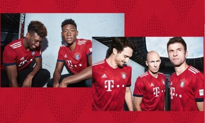 Bayern Munich 2018 2019 adidas Home Football Kit, Soccer Jersey, Shirt, Trikot, Maillot, Tenue, Camisa, Camiseta