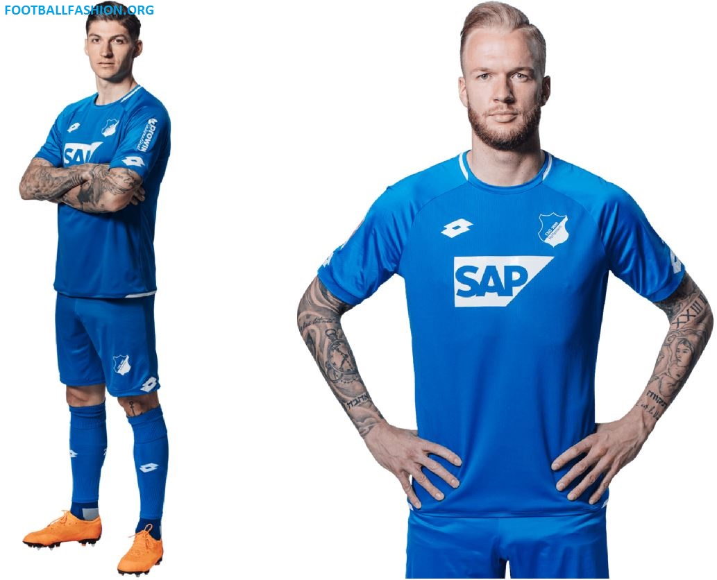 1b76fa21b54 TSG 1899 Hoffenheim 2018 19 Lotto Home Kit - FOOTBALL FASHION.ORG