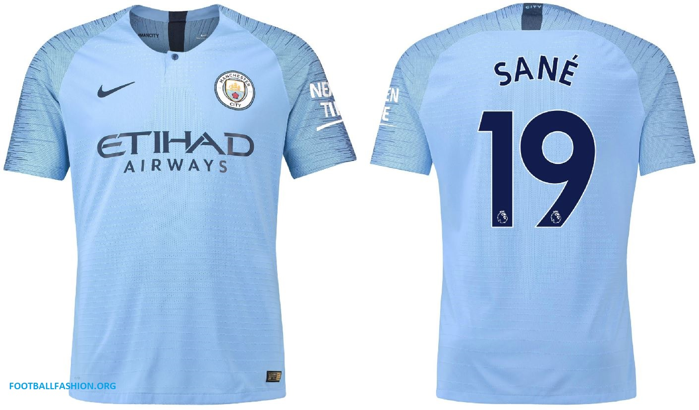 newest c1110 38b1f Manchester City 2018/19 Nike Home Kit - FOOTBALL FASHION.ORG