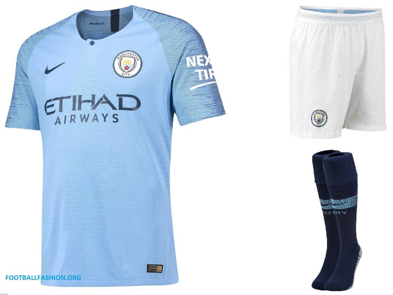 fd457ee091a Manchester City FC 2018 2019 Sky Blue Nike Home Football Kit, Shirt, Soccer  Jersey